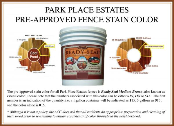 Pre-approved Fence Stain